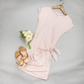 White Stripe Knot Dress