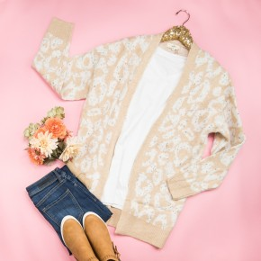 Speckled Leopard Cardigan *all sales final*