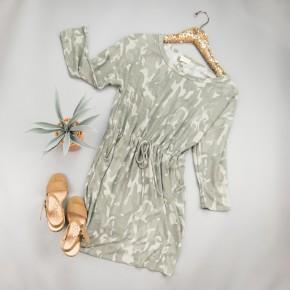 Cozy + Camo Dress