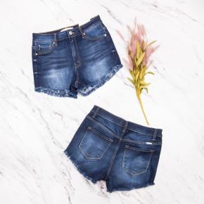 Kancan Dark Denim Shorts