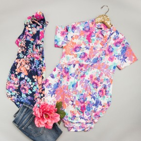 Bright Floral Peplum Top