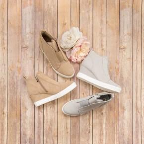 Spring Tone Wedge Sneaker
