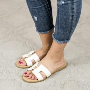 Drop Of Gold White Sandal
