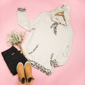 Lazy Days Leopard Hoodie *ALL SALES FINAL*