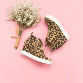 Leopard Zoey Wedge Sneaker