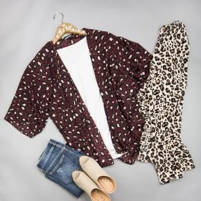 Sweet Leopard Kimono
