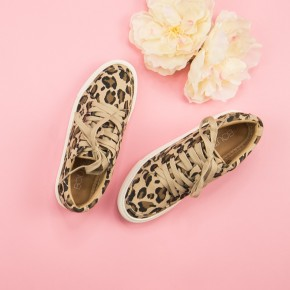 Leopard Puzzle Sneakers