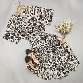 Olive Blend Leopard Dress