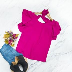 Pretty Pink Work Blouse
