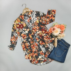 This Floral Time Blouse *ALL SALES FINAL*