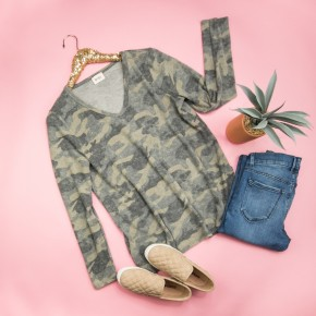 Relaxed Camo Tee *ALL SALES FINAL*