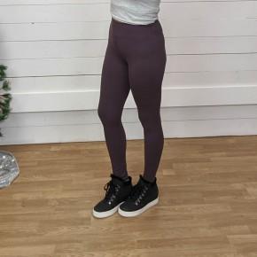 Dusty Plum Butter Full Length Leggings - One Size