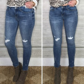 Jillian Knee Distressed Skinny