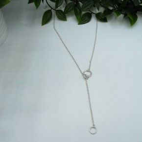 Circle Drop Necklace