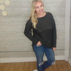Perfect Fall Sweater- Ash Green