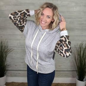 Kyah Leopard Print Hoodie