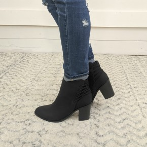 Lacey Lace Up Bootie - Black