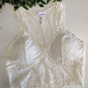 Wide Band Lace Bralette IVORY