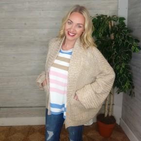 Kara Cream Sweater Cardi