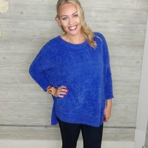 Cobalt Brushed Sweater
