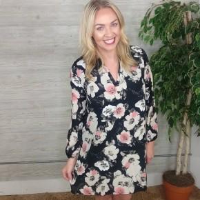Tory Black Floral Dress