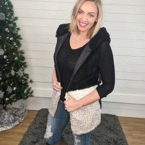 Nicole Black Colorblock Vest *Final Sale*