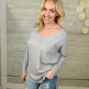 Sweetheart Sweater - Heather Grey