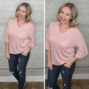 Nico Relaxed Top BLUSH