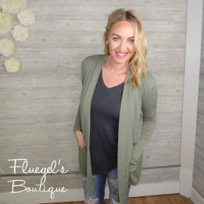 The Perfect Cardi - Lt Olive
