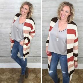 Hayden Harvest Stripe Sweater ROSE