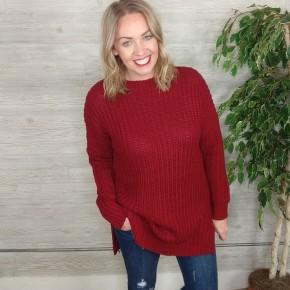 Ashton Knit Sweater CABERNET