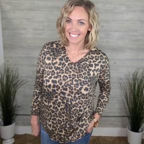 Taylor Cheetah V-neck