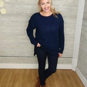Nora Ribbed Popcorn Sweater