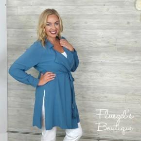 Lindsay Slate Blue Jacket *Final Sale*