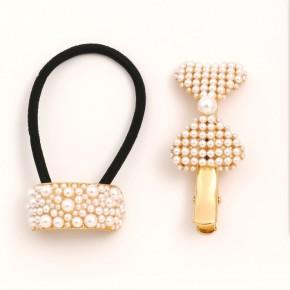 Pearl Pony & Bow Clip