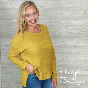 Mustard Burnout Sweater