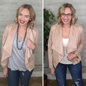 Felicity Faux Suede Jacket BLUSH