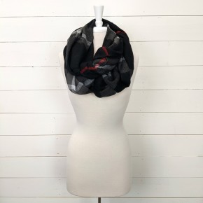 Black Gray Red Scarf