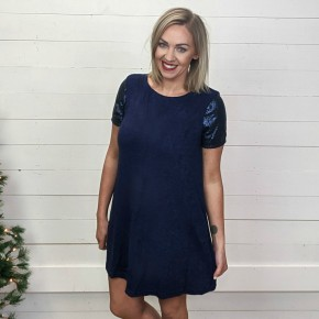 Noel Navy Sequin Dress *Final Sale*