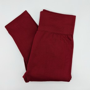 Burgundy Fleece Lined Leggings