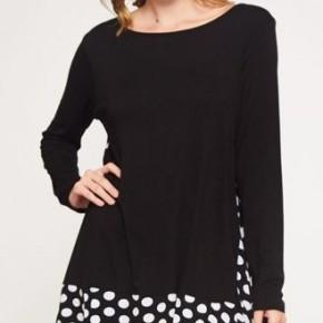 Black/White Dot Contrast Tunic