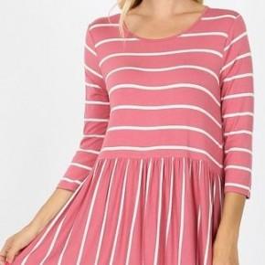 Striped Babydoll Tunic