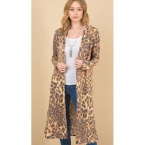 Leopard Hoodie Long Cardi *Final Sale*