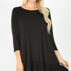 Ruffled Hem Hi/Lo Tunic *Final Sale*