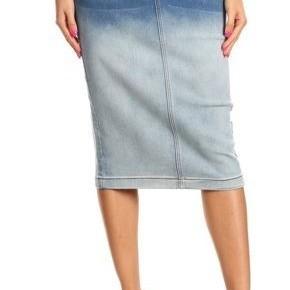 Be-Girl Midi Denim Ombre Skirt