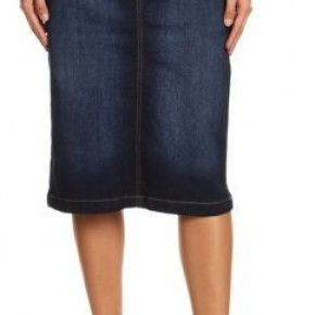 Be-Girl Dark Indigo Denim Midi Skirt #239
