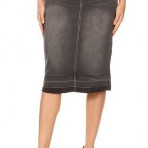 Be-Girl Midi Denim Skirt - Black Wash