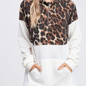 Leopard/Ivory Sweater Knit Top *Final Sale*