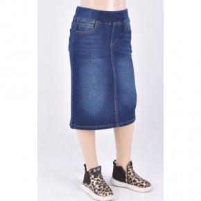 Dark Indigo Denim Midi Skirt ~ Girls/Jrs. *Final Sale*