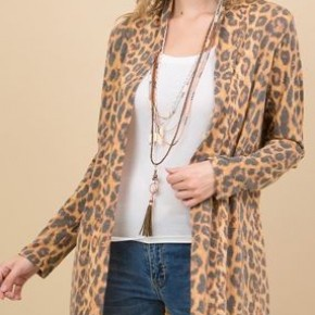*Plus Size ONLY* Leopard Open Cardi *Final Sale*